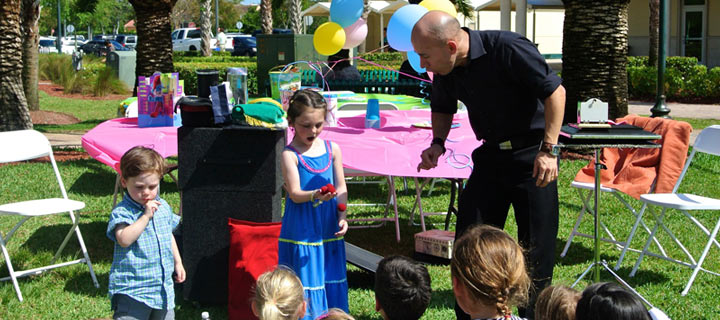 Kissimmee Magician Kids Birthday Party